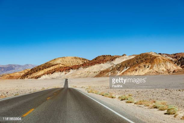 death valley highway, mojave desert, california, usa - great basin stock pictures, royalty-free photos & images