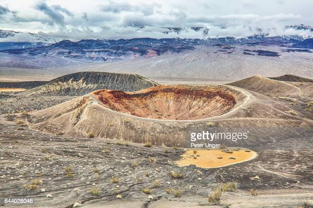 death valley national park,california,usa - volcanic crater stock pictures, royalty-free photos & images