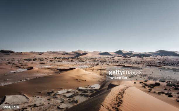 death valley of sand dunes - namib naukluft national park stock pictures, royalty-free photos & images