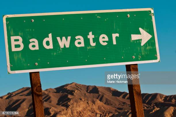 Death Valley Park 'Badwater' SIGN.