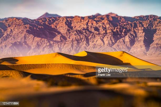 death vally at sunset - dunes arena stock pictures, royalty-free photos & images