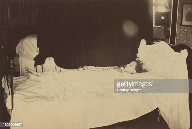 Deathbed Study of Adeline Grace Clogstoun, 1872. On June 8 ten year old Adeline Grace Clogstoun died of injuries sustained while rough housing....