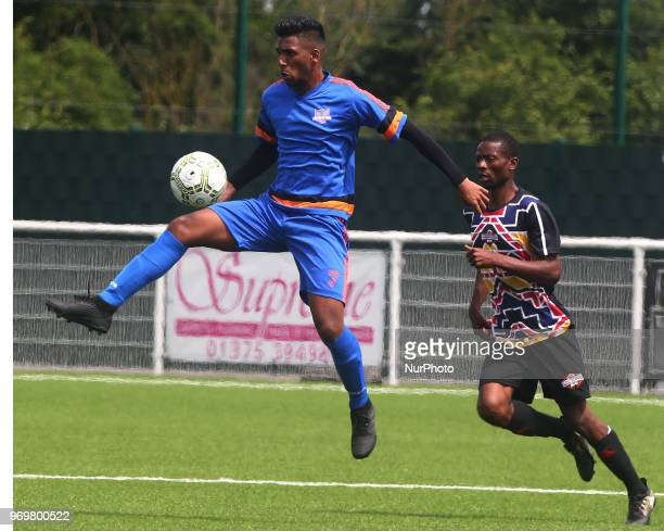 Deaueyean Soprayen of Chagos Islands during Conifa Paddy Power World Football Cup 2018 Friendly between Matabeleland v Chagos Islands at Parkside...