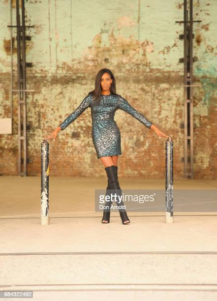 Deauvanne Athanasakis wearing Madora outfit during MercedesBenz Fashion Week Resort 18 Collections at Carriageworks on May 18 2017 in Sydney Australia