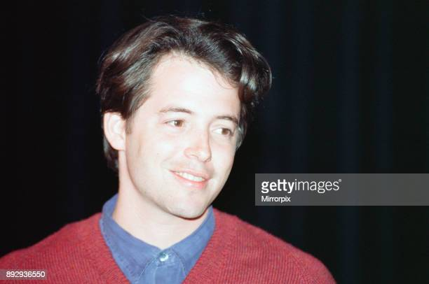 Deauville American Film Festival Deauville France September 1990 Our picture shows Matthew Broderick at the festival to promote new film The Freshman...