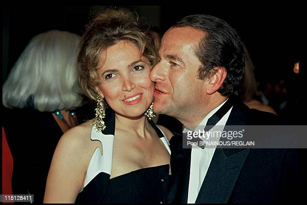 Deauville American film festival in Deauville France on March 04 1993 Paul Loup Sulitzer and wife Delphine