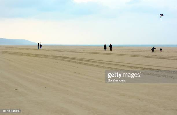 Deauville beach in Normandie, on a cold day in November.