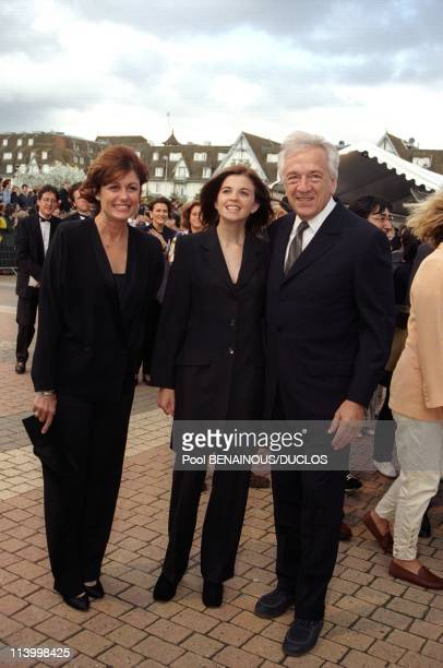 Deauville Film Festival 'Saving Private Ryan' Of Spielberg In Deauville France On September 04 1998JeanPierre Casselhis wife Anne and daughter Cecile