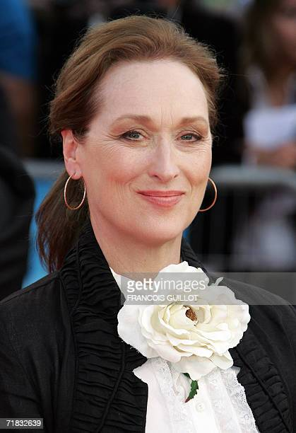 "Actress Meryl Streep arrives for the screening of the movie ""The Devil wears Prada"" presented at the 32nd Deauville American film festival, 09..."