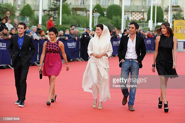 Deauville revelation jury French actor Benjamin Siksou french actress Sabrina Ouazani Iranian actress Leila Hatami Deauville revelation jury...