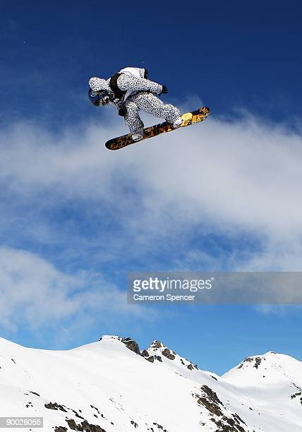 DeaWon Kwon of Korea competes in the mens snowboardslopestyle during day two of the Winter Games NZ at The Remarkables on August 23 2009 in...