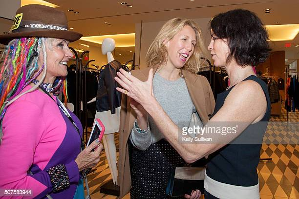 Deb Windham Lauren Goodman and Dorka Keehn socialize at Barneys New York on January 29 2016 in San Francisco California