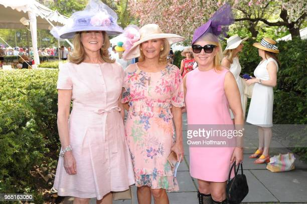 Deban Flexner Karen Klopp and Janna Bullock attend 36th Annual Frederick Law Olmsted Awards Luncheon Central Park Conservancy at The Conservatory...