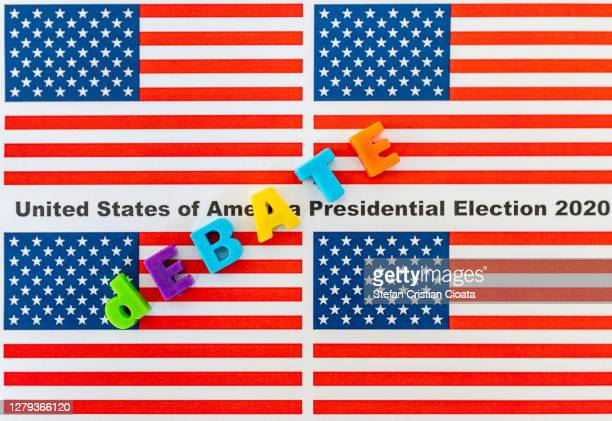 debate at 2020 usa presidential election - presidential debate stock pictures, royalty-free photos & images