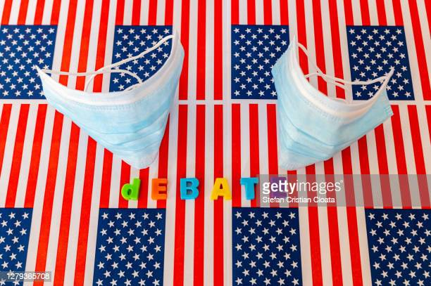 debate for usa presidential election 2020 concept - presidential debate stock pictures, royalty-free photos & images