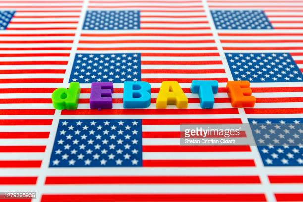 debate in usa presidential election 2020 - presidential debate stock pictures, royalty-free photos & images