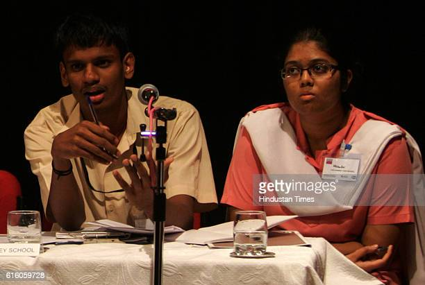 Debate Two of the students from SM Choksey High School in Pune who had participated in the regional finals earlier this month The schoool team which...