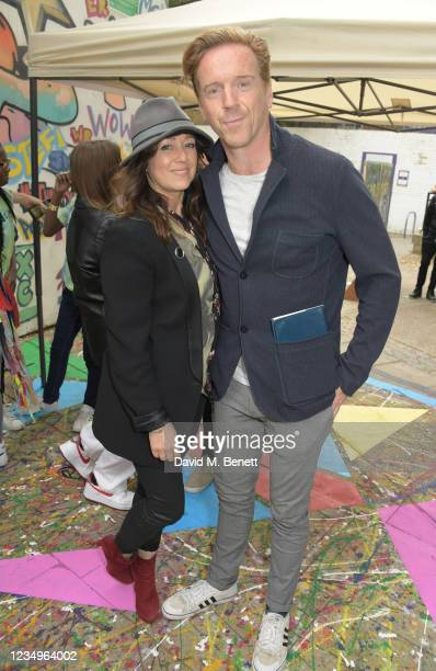 """Debbi Clark and Damian Lewis attend a performance of the Sir Hubert Von Herkomer Arts Foundation's production of """"A Brave New World"""" in memory of..."""