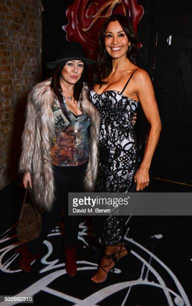 Debbi Clark and Melanie Sykes attend The Perfumer's Story evening of Scentsory delights hosted by Aures London Azzi Glasser at Sensorium on March 21...