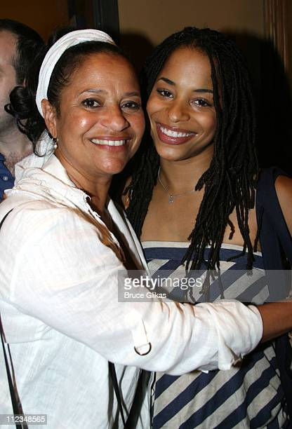 Debbie Allen and daughter Vivian Nixon during Judge Marilyn Milian of The Peoples Court visits Hot Feet on Broadway at The Hilton Theater in New York...