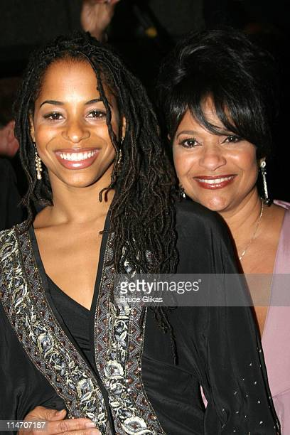 Debbie Allen and daughter Vivian Nixon during The Color Purple Broadway Opening Night Arrivals at The Broadway Theatre in New York City New York...
