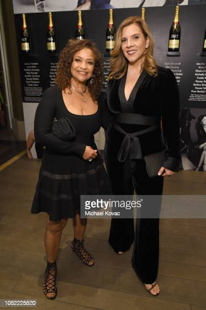 Debbie Allen and Krista Vernoff attend ELLE's 25th Annual Women In Hollywood Celebration presented by L'Oreal Paris Hearts On Fire and CALVIN KLEIN...
