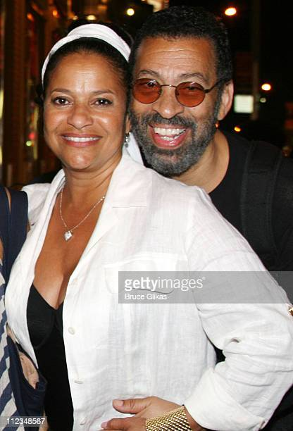 Debbie Allen and Maurice Hines during Judge Marilyn Milian of The Peoples Court visits Hot Feet on Broadway at The Hilton Theater in New York City...