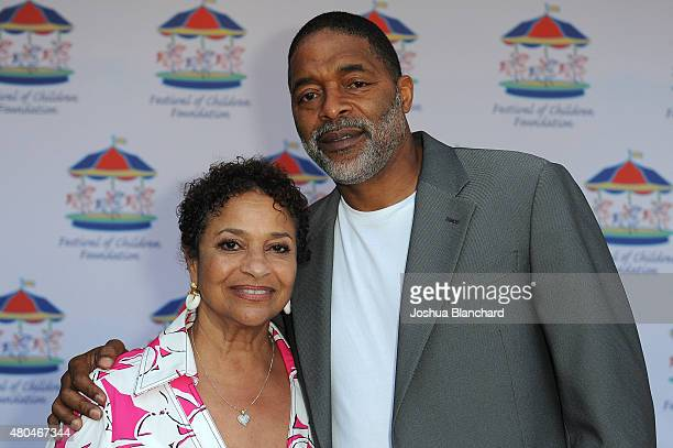 Debbie Allen and Norm Nixon attend Carousel of Possible Dreams to benefit the Debbie Allen Dance Academy and The Art Of Elysium on July 11 2015 in...