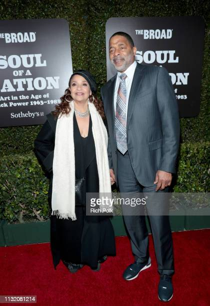 Debbie Allen and Norm Nixon attend The Broad Museum celebration for the opening of Soul Of A Nation Art in the Age of Black Power 19631983 Art...
