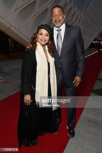 Debbie Allen and Norm Nixon celebrate with Land Rover at The Broad museum's opening celebration of its new art exhibition Soul of a Nation Art in the...