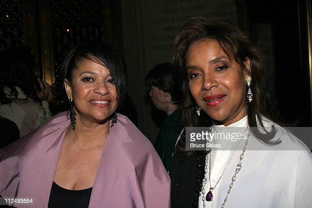 Debbie Allen and sister Phylicia Allen Rashad during Opening Night Party for Julius Caesar on Broadway at Gotham Hall in New York City New York...