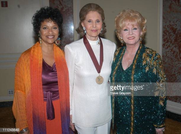 Debbie Allen Cyd Charisse and Debbie Reynolds during 2003 Music Center Artist Awards at The Beverly Regent Hotel in Los Angeles California United...