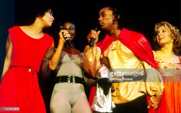 Debbie Allen Gene Anthony Ray and cast of Fame perform on stage Wembley London April 1983