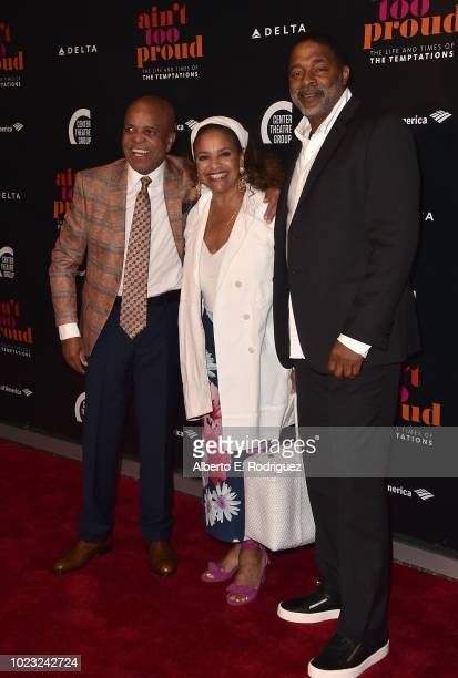 Debbie Allen her husband Norm Nixon and Barry Gordy attend the Opening Night of Ain't Too Proud The Life And Times Of The Temptations at the Ahmanson...