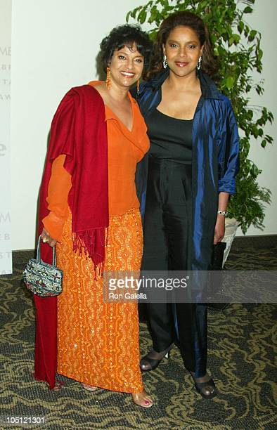 Debbie Allen Phylicia Rashad during 2003 Women In Film Crystal Lucy Awards Sponsored by Marie Claire Arrivals at Century Plaza Hotel in Century City...