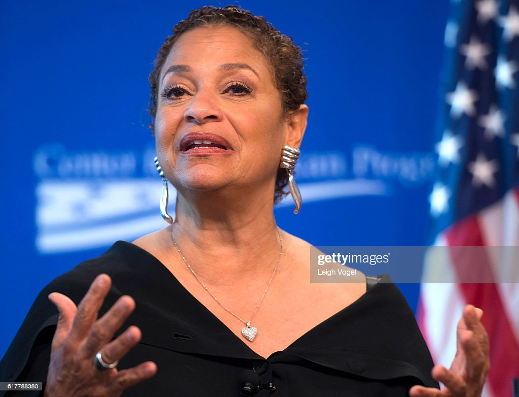Debbie Allen speaks about gun violence at the Center for American Progress event 'Debbie Allen On Arts and Lived Experience: Race, Violence, And Access To The American Dream' on October 24, 2016 in Washington, DC.