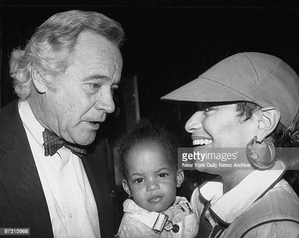 Debbie Allen with daughter and Jack Lemmon Allen Debbie