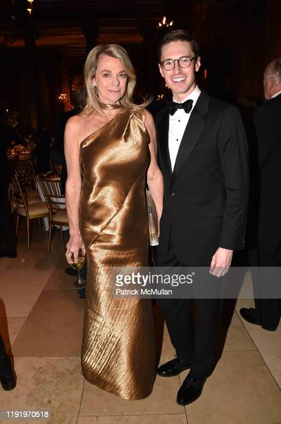 Debbie Bancroft and Andrew Nodell attend French Heritage Society's New York Gala The Black White Ball at Private Club on November 21 2019 in New York...