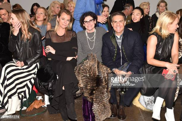 Debbie Bancroft Lisa Cohen and Richard Mishaan attend the Nicole Miller Fall 2018 Runway Show at Industria Studios on February 9 2018 in New York City