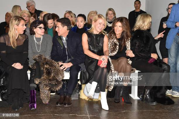 Debbie Bancroft Lisa Cohen Richard Mishaan Janna Bullock and Alessia Voron attend the Nicole Miller Fall 2018 Runway Show at Industria Studios on...