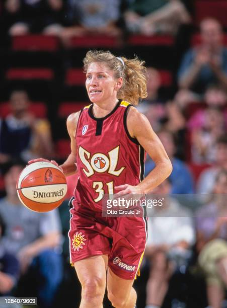 Debbie Black, Guard for the Miami Sol during the WNBA Western Conference basketball game against the Seattle Storm on 30th July 2000 at the Key Arena...