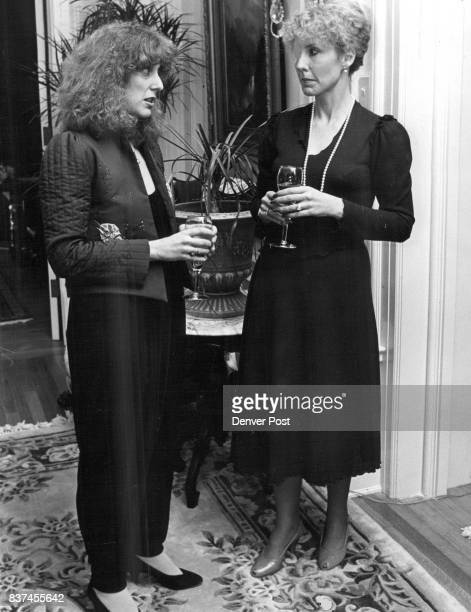 Debbie Brooks in appliaued jacket black matte jumpsuit Jane Box in 1981 version of Brooks classic dress Credit Denver Post