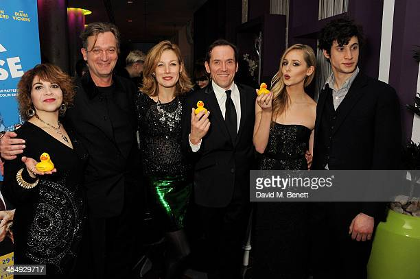 Debbie Chazen Simon Shepherd Nancy Carroll Ben Miller Diana Vickers and James Musgrave attend an after party celebrating the press night performance...