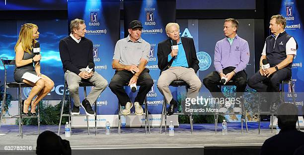 Debbie Doniger Hank Haney David Leadbetter Jim McLean Michael Breed and Larry Rinker on SiriusXM PGA TOUR Radio's Teacher's Town Hall at The PGA...