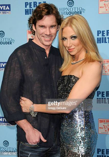 Debbie Gibson and Dr Rutledge Taylor arrive at Perez Hilton's Blue Ball Birthday Celebration at Siren Studios on March 26 2011 in Hollywood California