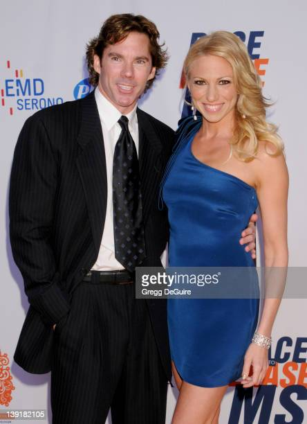 Debbie Gibson and Dr Rutledge Taylor arrive at the 18th Annual Race To Erase MS at the Hyatt Regency Century Plaza Hotel on April 29 2011 in Century...