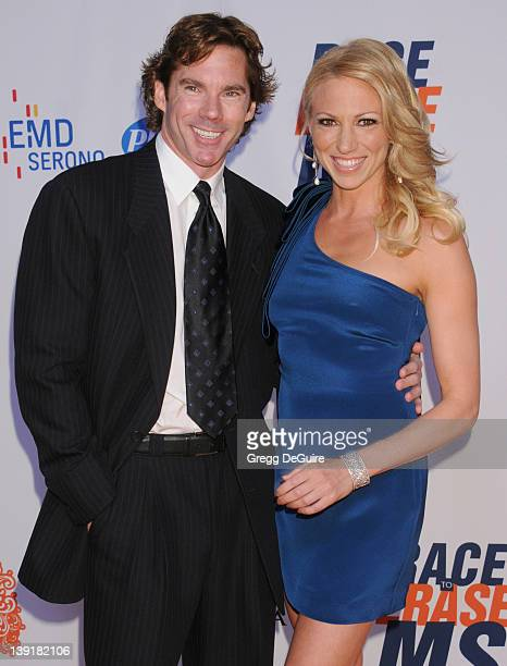 Debbie Gibson and Dr. Rutledge Taylor arrive at the 18th Annual Race To Erase MS at the Hyatt Regency Century Plaza Hotel on April 29, 2011 in...