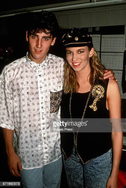 Debbie Gibson and Jonathan Knight circa 1989 in New York City