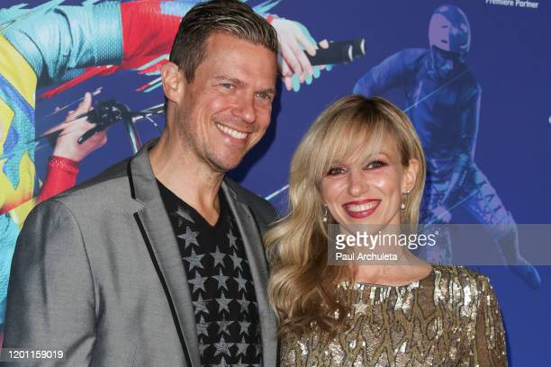 Debbie Gibson and Rutledge Taylor attend the LA premiere of Cirque Du Soleil's Volta at Dodger Stadium on January 21 2020 in Los Angeles California