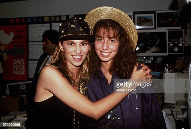 Debbie Gibson and sister circa 1989 in New York City